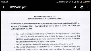 Big update ...railway groupD rrcscr(secunderabad) PwBd candidates results and waiting list declared thumbnail