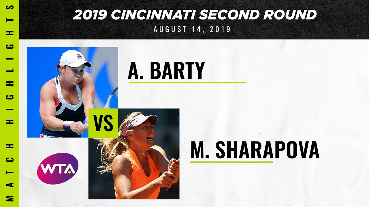 Ashleigh Barty vs. Maria Sharapova | 2019 Western & Southern Open Second Round | WTA Highlights