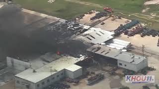Raw: Gas plant explosion in Austin County northwest of Houston
