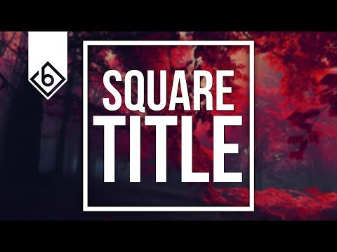 How To Create A Square Title - Sony Vegas Tutorial