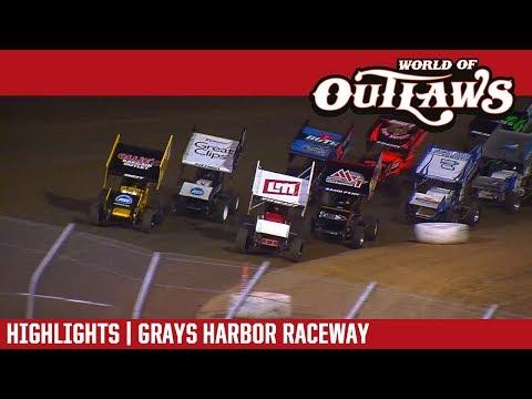 World of Outlaws Craftsman Sprint Cars Grays Harbor Raceway September 4, 2017 | HIGHLIGHTS