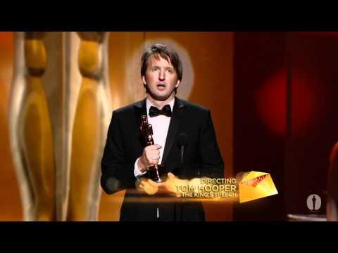 Tom Hooper winning the Oscar® for Directing