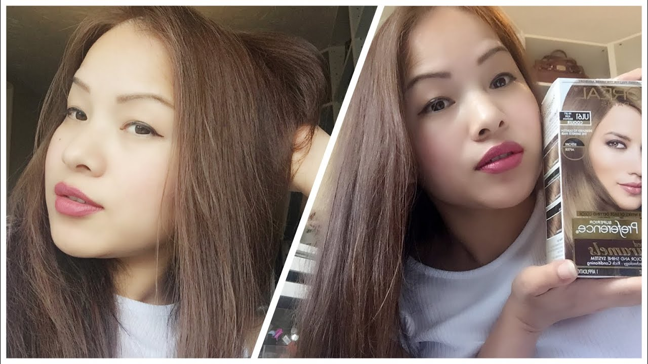 How To Dye Asian Hair Black Hair To Ash Brown Loreal