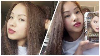 Repeat youtube video How to dye Asian hair-Black Hair to Ash Brown / Loreal UL61 2016