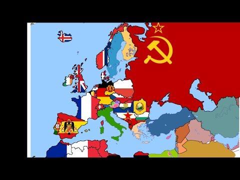 Map of Europe in 1949 (Part 2/4) - Western Europe & North Africa - Flag Map Speedart