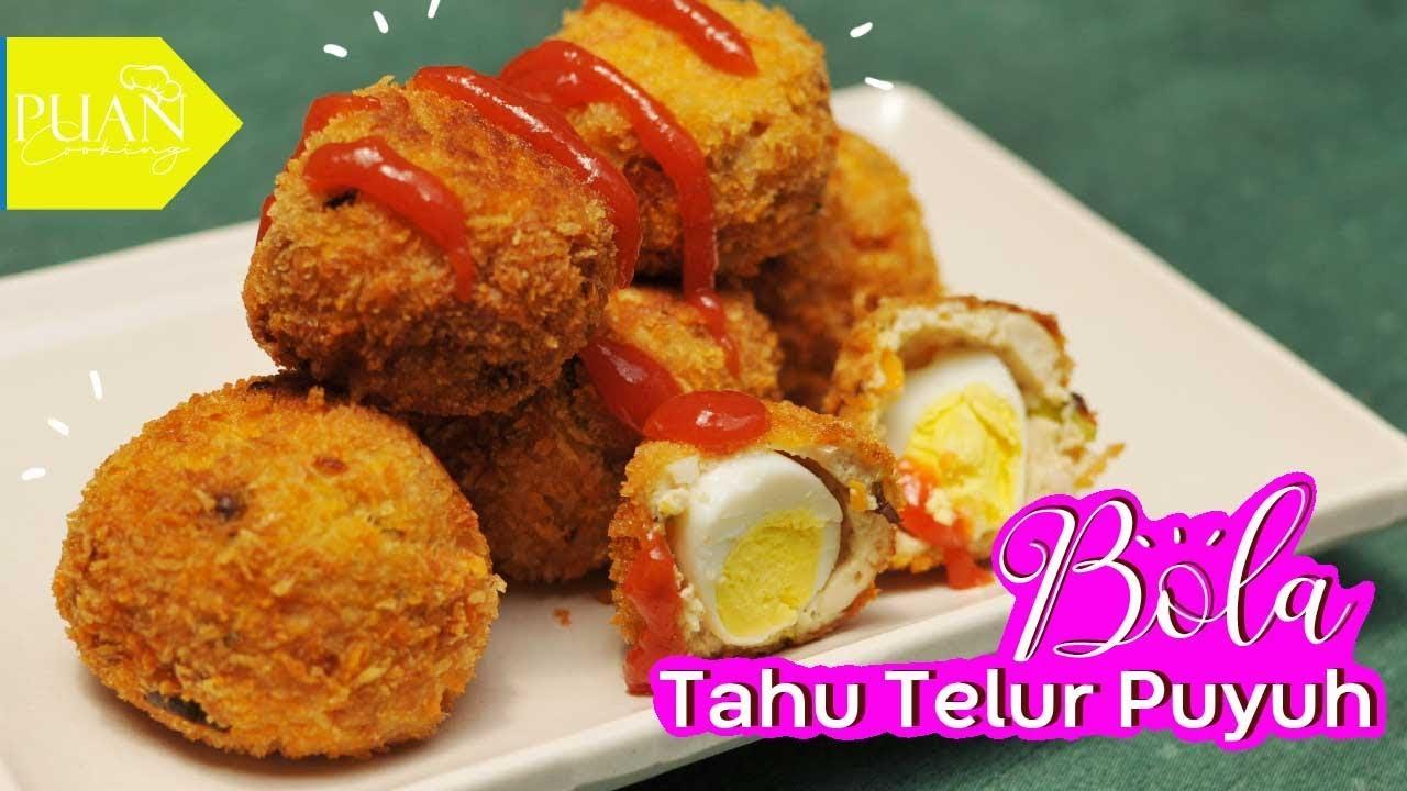 Bola-Bola Tahu isi Telur Puyuh - Simple Tofu ball with egg
