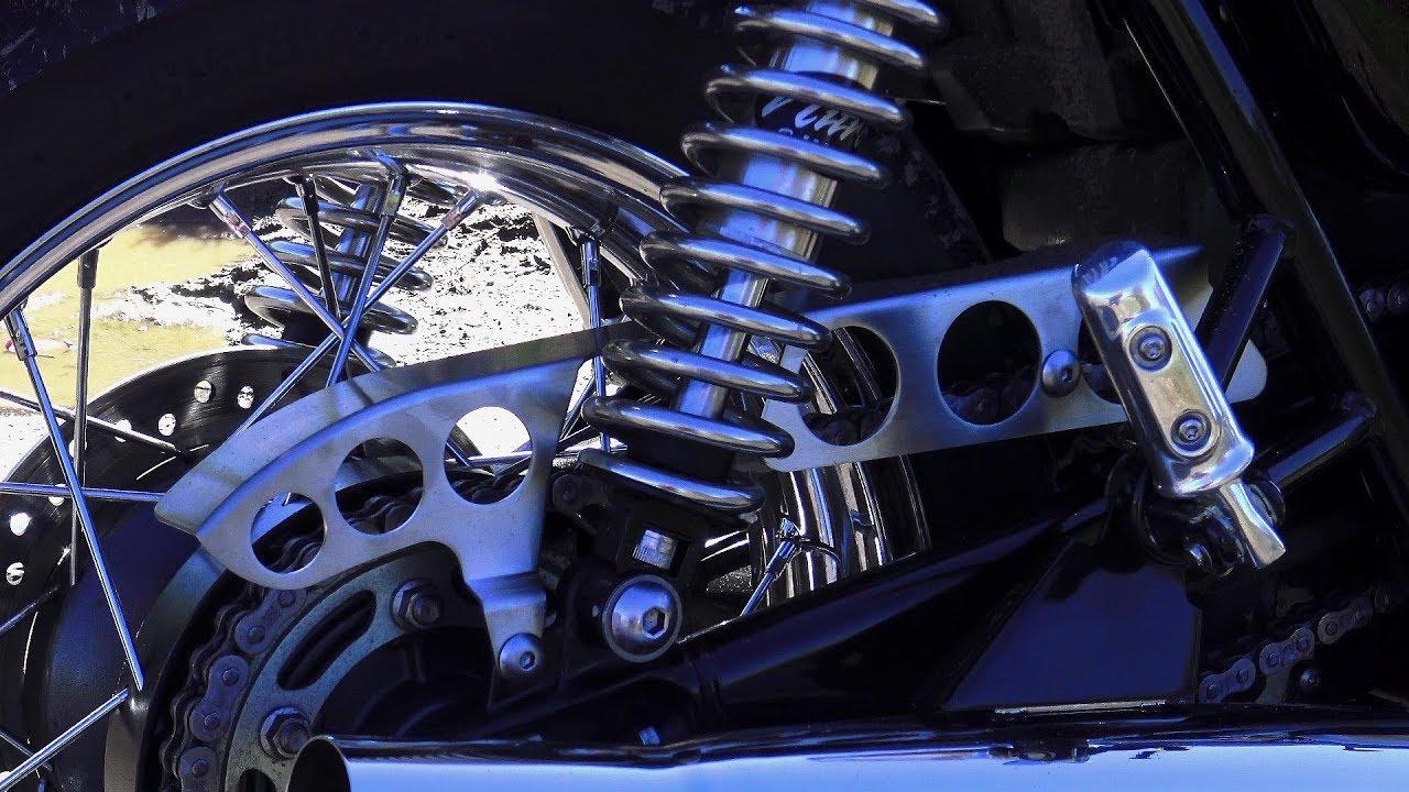 Custom Triumph Bonneville T120 Classic Cafe Racer Chainguard From