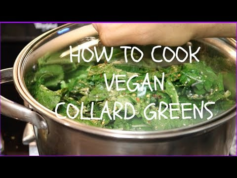 HOW TO COOK SOUTHERN COLLARD GREENS [VEGAN] |EASY AND FLAVORFUL |CALORRITV