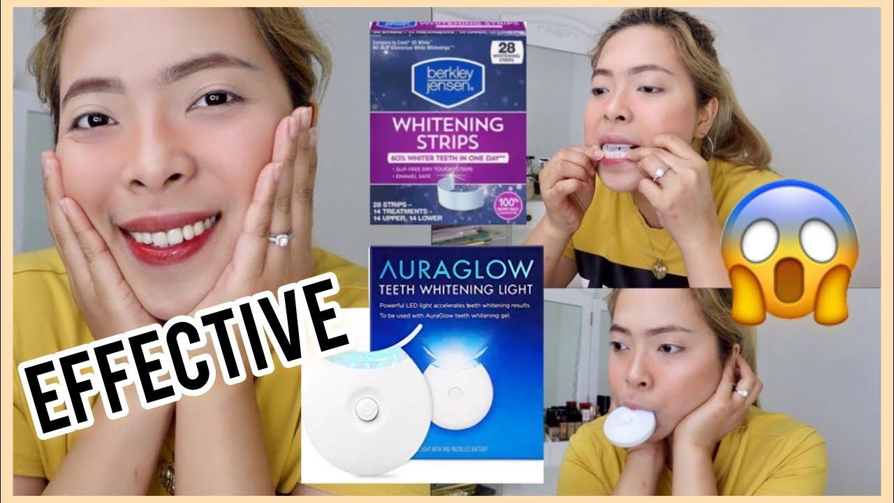 How I Whiten My Teeth Auraglow Led Light Whitening Strips