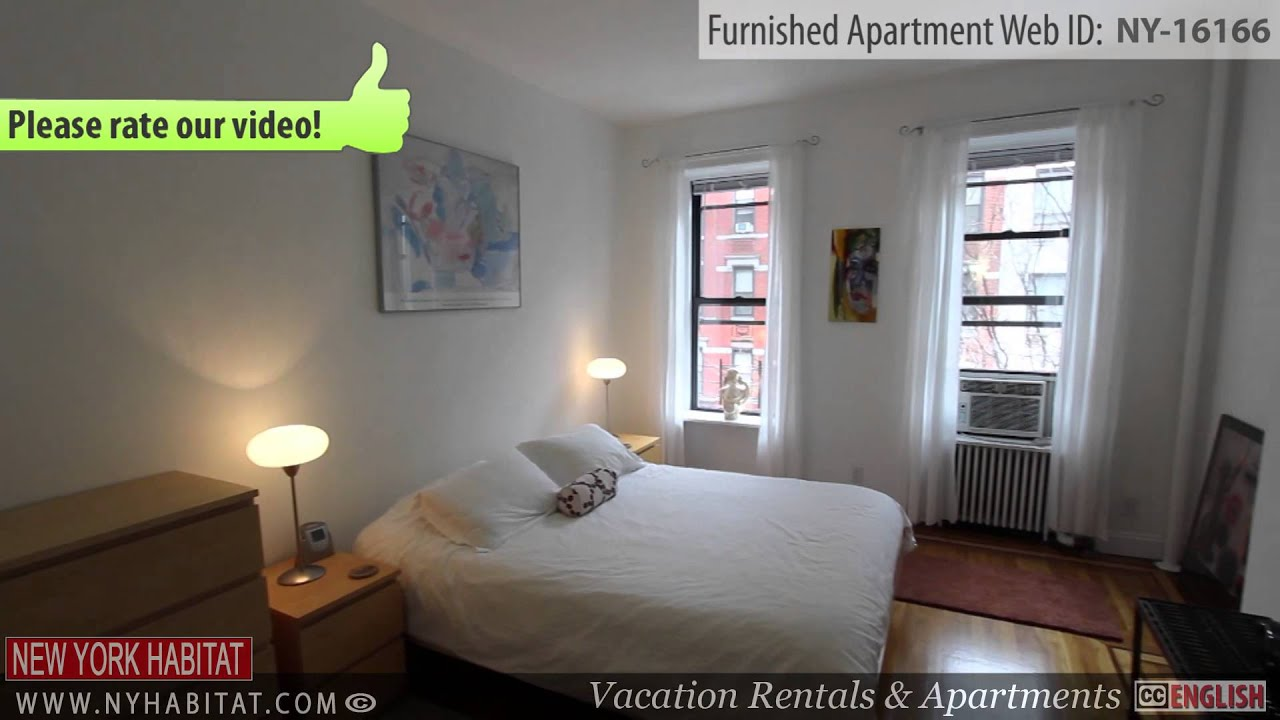 video tour of a 1 bedroom furnished apartment in the upper east