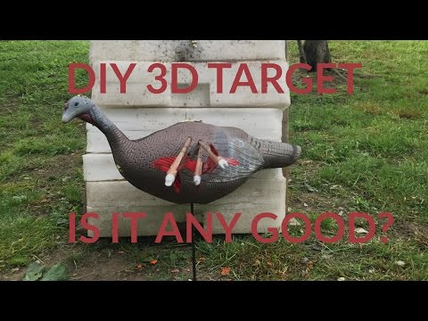 Easy to Build 3D Turkey Target