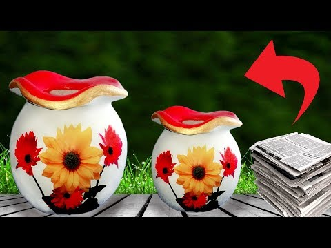 Stylish Paper flower vase // Awesome Paper flower vase at home // Home Decoration Ideas