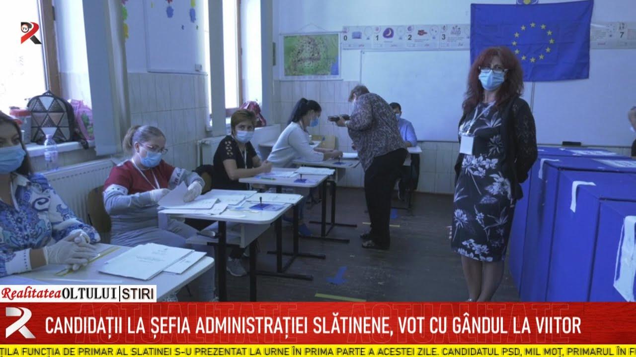 Candidații la șefia administrației slătinene, vot cu gândul la viitor