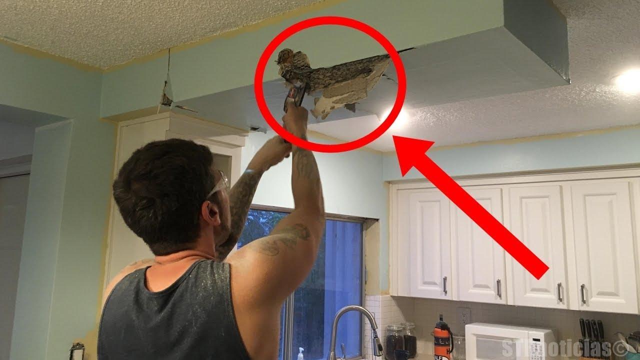 este-hombre-estaba-cortando-el-techo-de-su-cocina-cuando-de-pronto-hace-un-descubrimiento-fascinante