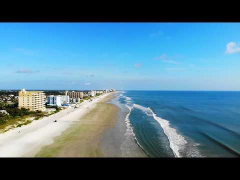 New Smyrna Beach Florida 2019 Drone Footage.