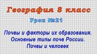 География 8 класс (Урок№21 - Почвы и факторы их образования. Основные типы почв России.)