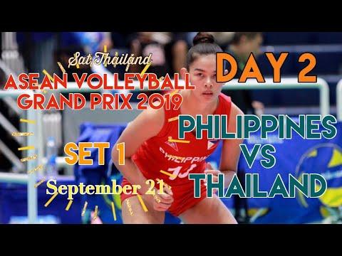 PHILIPPINES vs. THAILAND   SET 1   ASEAN VOLLEYBALL GRAND PRIX 2019   DAY 2