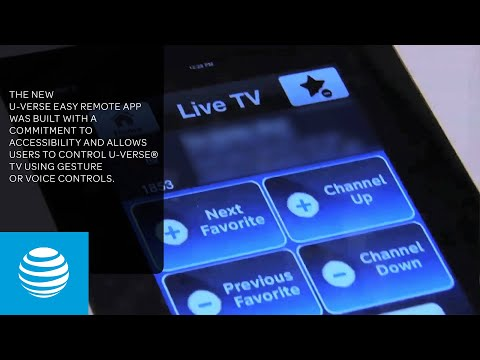 U-verse Easy Remote App - Control Your TV With IPhone Or IPad   AT&T
