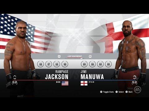 Ea Sports Ufc 3 Rampage Jackson V Jimi Manuwa Follow The Link In