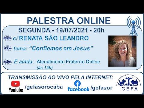 Assista: Palestra Online - c/ RENATA SÃO LEANDRO (19/07/2021)