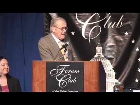 Forum Club of the Palm Beaches: Donald Rumsfeld