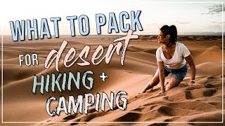 ULTIMATE Guide for EVER¥THING You Need to Pack for DESERT Hiking + Camping | Sahara, Morocco
