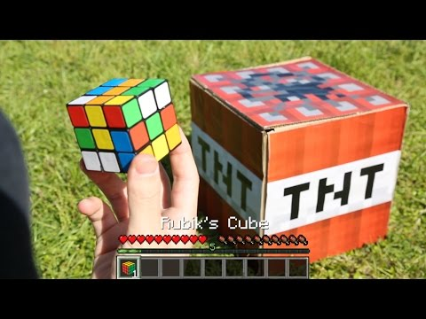 【実写マインクラフト】TNTを使ってルービックキューブを一瞬で揃える方法 Minecraft in Real Life【マイクラ】