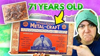 ARE OLD THINGS BETTER QUALITY? Testing a 71 Year Old Craft Kit DIY Vintage Metal SaltEcrafter #73