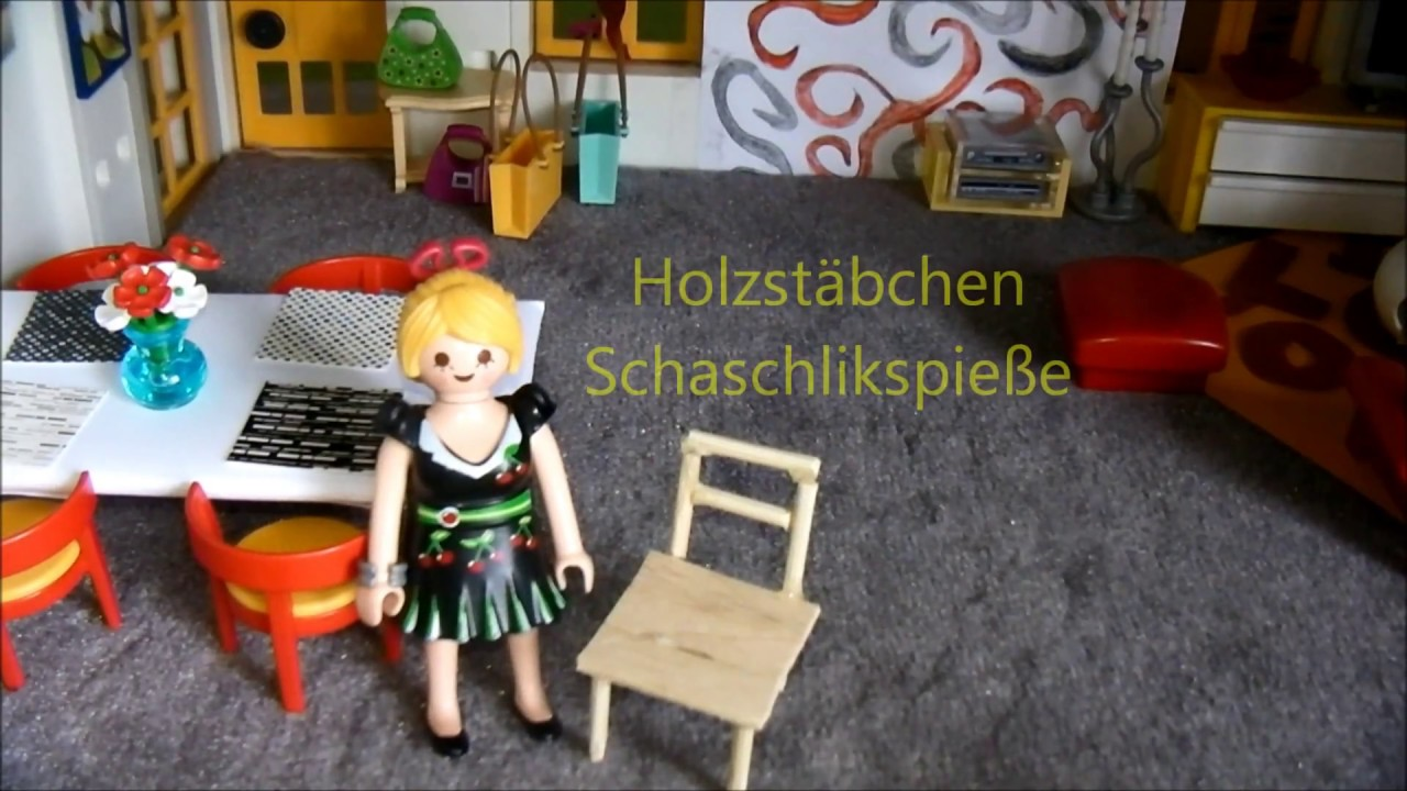 playmobil tisch und stuhl basteln youtube. Black Bedroom Furniture Sets. Home Design Ideas