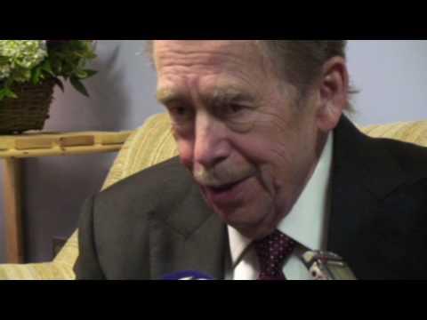 Václav Havel po americké premiéře Odcházení