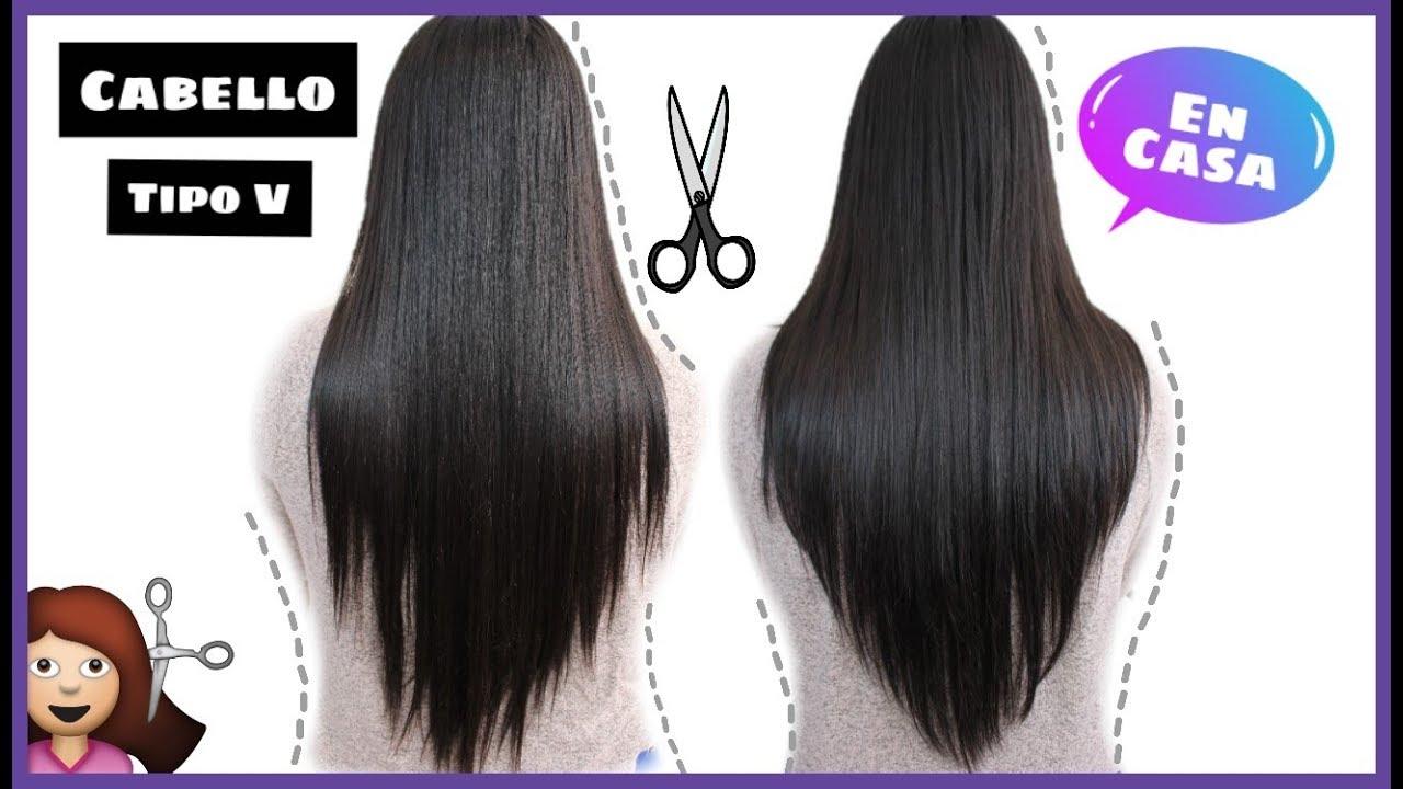Como se corta el cabello tipo v