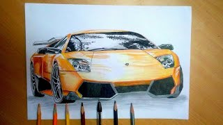 How to draw Lamborghini Murcielago (HAC)