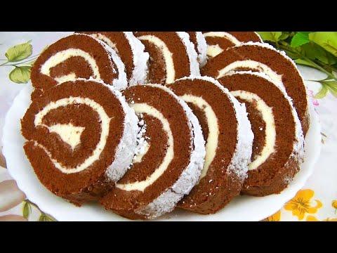 Самый Простой Рулет к Чаю - не хуже чем торт!
