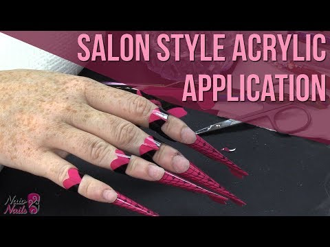 How to: Salon Style Acrylic Application - One Bead Application