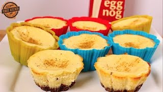 Eggnog Cheesecakes - Cupcakes - Christmas dessert recipe