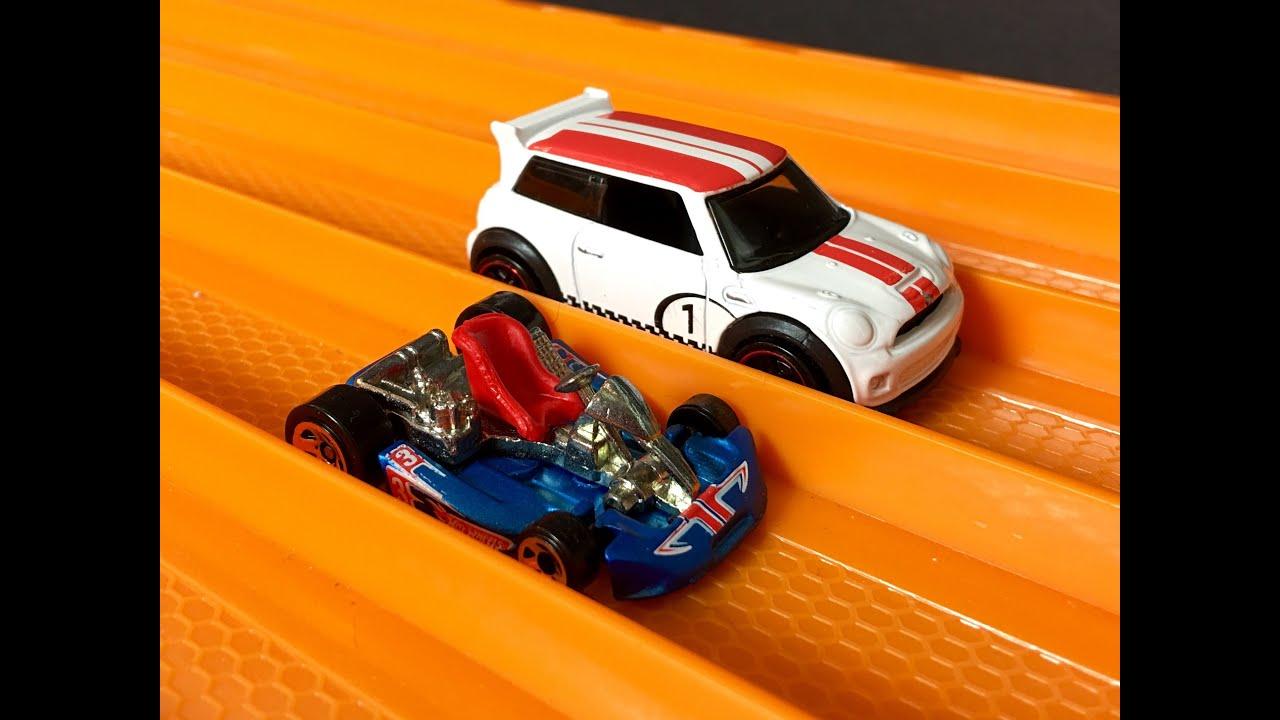 RACE: Go Kart vs Mini Cooper - Hot Wheels - YouTube