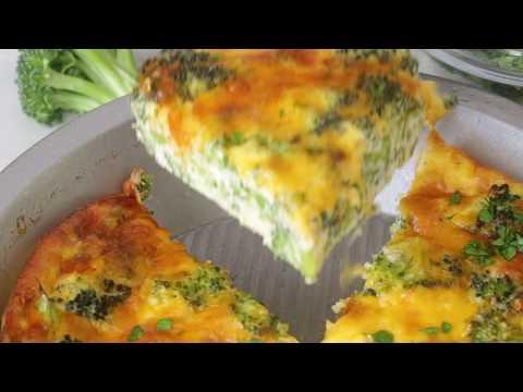Crustless Broccoli Cheddar Quiche Recipe