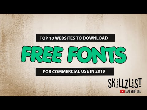 Free Fonts For Commercial Use - Top 10 Websites To Download (2019)