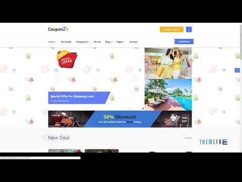 CouponZ - Deals And Coupon HTML Template        Shouta Terence