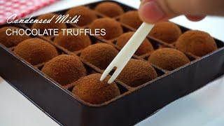 Condensed Milk Chocolate Truffles Easy Recipe