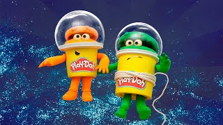Play Doh Videos | The Doh-Dohs Bounce to Space! 🚀 Stop Motion | The Play-Doh Show