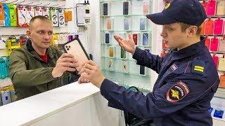 ПОЛИЦЕЙСКИЙ УКРАЛ IPHONE 11 PRO MAX В МАГАЗИНЕ. ПРАНК НАД ПРОДАВЦОМ КРАЖА