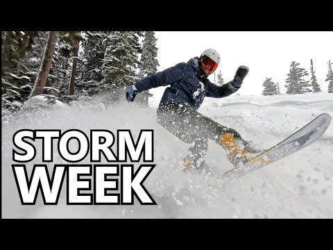 Winter Storm Week Day 1 - Snowboard Vlog