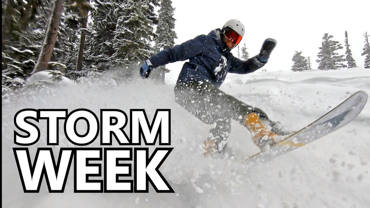 14720f1fc6a Winter Storm Week Day 1 - Snowboard Vlog - YouTube