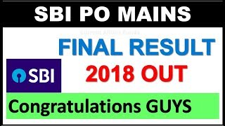 SBI PO Mains 2018 Final Result Out | Congratulations to all Selected candidates