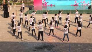hội trại xun 2016 thpt trần văn giu flashmob lớp 12d2