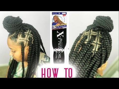 Spider Web Box Braids Tutorial ft RUWA Pre-Stretched Hair by Sensationnel - Step By Step