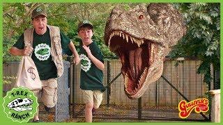 Giant T-Rex Dinosaur Escape! Dinosaurs Pretend Play At Gulliver's Adventure Park for Kids