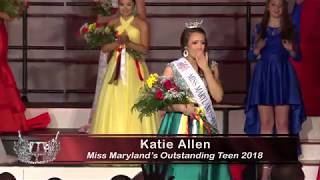 Miss Maryland's Outstanding Teen 2018 Crowning