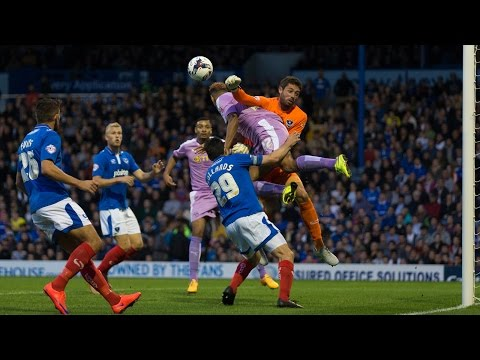 Highlights: Portsmouth 1-2 Reading (Capital One Cup) 25th August 2015